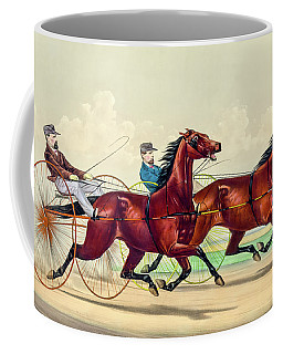 Horse Carriage Race Coffee Mug