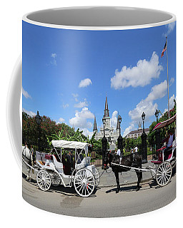 Coffee Mug featuring the photograph Horse Carriages by Steven Spak