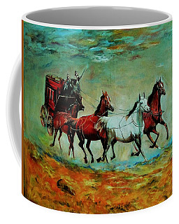 Horse Chariot Coffee Mug by Khalid Saeed