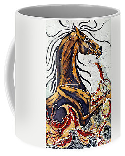 Horse Dances In Sea With Squid Coffee Mug