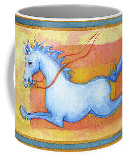 Horse Detail From H Medieval Alphabet Print Coffee Mug