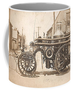 Coffee Mug featuring the photograph Horse Drawn Fire Engine 1910 by Unknown