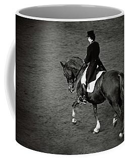 Horse Dressage - Black And White Coffee Mug