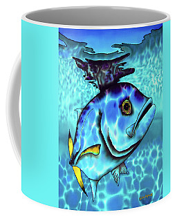 Horse Eyed Jack Fish Coffee Mug