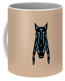 Horse Face Rick - Horse Pop Art - Hazelnut, Niagara Blue, Island Paradise Blue Coffee Mug