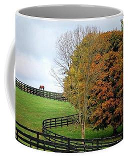 Horse Farm Country In The Fall Coffee Mug
