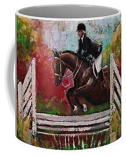 Show Jumper Equestrian Horse Wall Art  Coffee Mug