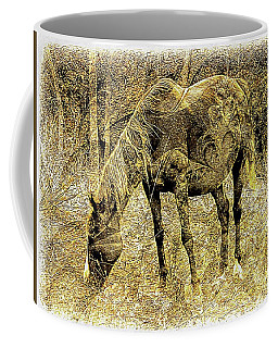 Horse Grazing On Pasture 2 Coffee Mug