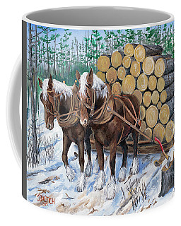 Horse Log Team Coffee Mug