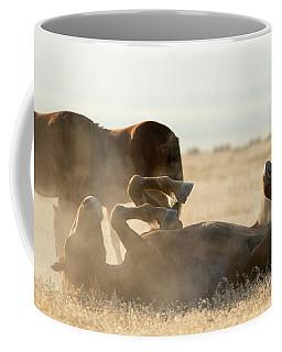 Horse Playing In Dirt Coffee Mug