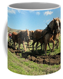 Coffee Mug featuring the photograph Horse Power by Jeff Swan