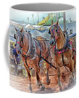Horse Pull At The Fair Coffee Mug