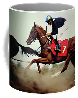 Horse Race - Motion Blurred Art Photography Coffee Mug