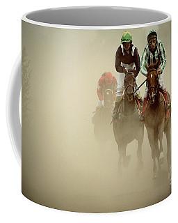 Horse Racing In Dust Coffee Mug