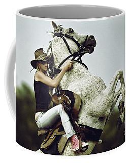 Horse Rearing With Girl Coffee Mug