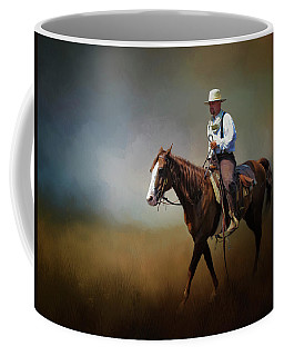 Horse Ride At The End Of Day Coffee Mug