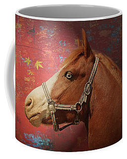 Horse Texture Portrait Coffee Mug