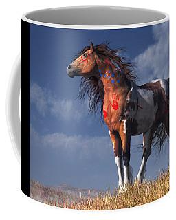 Horse With War Paint Coffee Mug by Daniel Eskridge