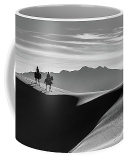 Horseback At White Sands Coffee Mug
