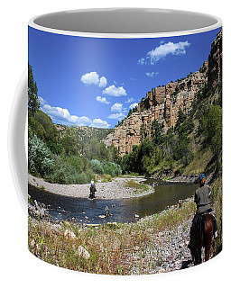 Horseback In The Gila Wilderness Coffee Mug