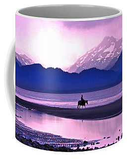 Horseback Riding At Sunset Coffee Mug by Scott Mahon