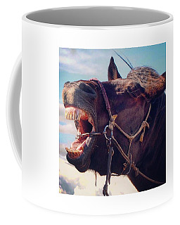 Horse Bare Teeth Coffee Mug