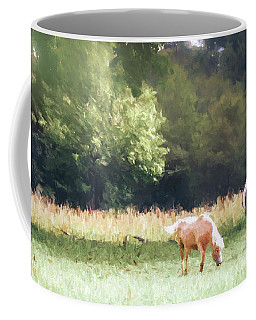 Coffee Mug featuring the photograph Horses by Andrea Anderegg