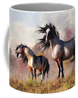 Horses In Fall Coffee Mug