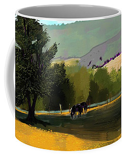 Horses In Field Coffee Mug