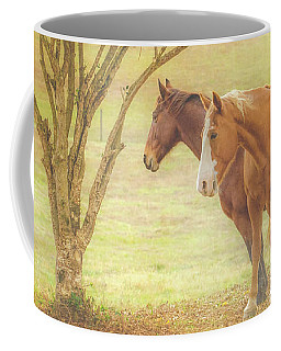 Horses In The Meadow Coffee Mug