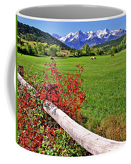Horses In The San Juans Coffee Mug by Scott Mahon