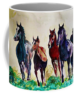 Horses In Wild Coffee Mug