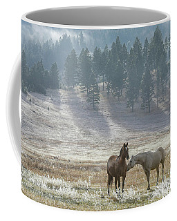Horses On A Montana Ranch Coffee Mug by Keith Boone