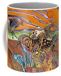 Horses Of The Ardeche Valley France Coffee Mug by Bob Coonts