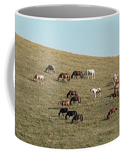 Horses On The Hill Coffee Mug