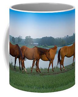 Horses On The Walk Coffee Mug
