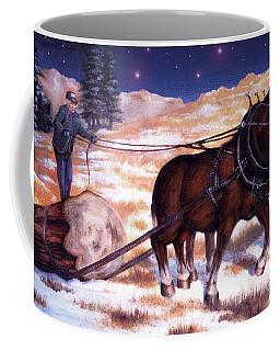 Horses Pulling Log Coffee Mug