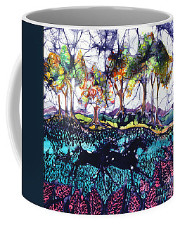Horses Running Below Hills Coffee Mug