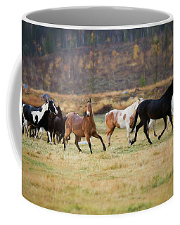 Coffee Mug featuring the photograph Horses by Sharon Jones