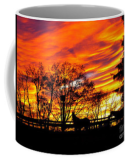 Horses Under A Painted Sky Coffee Mug