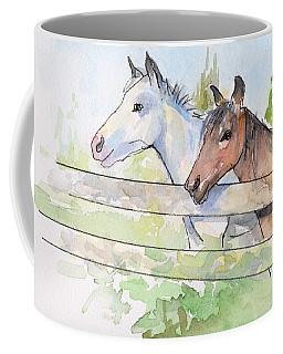 Horses Watercolor Sketch Coffee Mug
