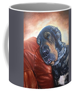 Coffee Mug featuring the painting Hoss by Mike Ivey