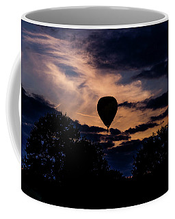 Hot Air Balloon Silhouette At Dusk Coffee Mug
