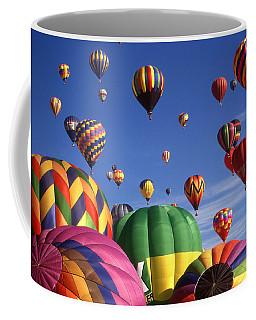 Beautiful Balloons On Blue Sky - Color Photo Coffee Mug