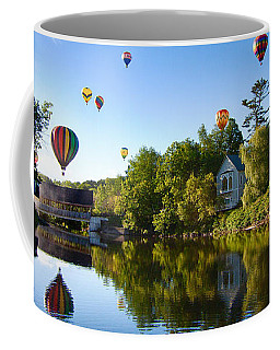 Hot Air Balloons In Quechee 2015 Coffee Mug
