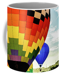 Hot Air Balloons Over Trees Coffee Mug