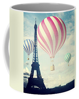 Hot Air Balloons In Paris Coffee Mug