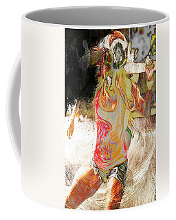 Hot Black Bloc Coffee Mug by Andrea Barbieri