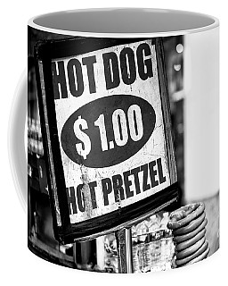 Hot Dog Hot Pretzel Coffee Mug by John Rizzuto