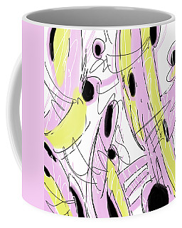 Hot Pink Abstract Coffee Mug